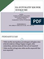 Otitis Media Supuratif Kronik Dan Mastoidektomi