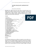 Statistical Analysis and Quality Assurance
