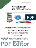 InstructivodeElaboracionparalosPlanesOperativosUTMACH 20 Dic 11 1 Copiar
