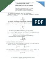 Medidas de Centralizacion y de Posicion