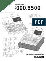 Casio TK-6000 manual DE