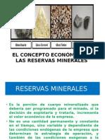 Concepto Economico de Las Reservas