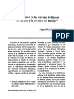 Division Del Trabajo Indígenas Mexicanos