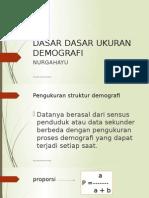 Dasar Dasar Ukuran Demografi (5)