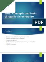 Basic concepts and tasks of logistics in enterprise