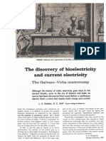 The Discovery of Biolelectricity and Current Electricity