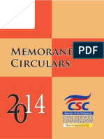 2014 CSC Memorandum Circulars