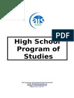 Programme of Studies 2015-16