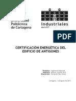 Certificación Energética Del Edificio de Antigones