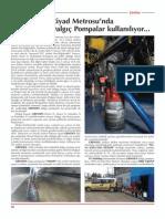 Riyad Metrosu'Nda GRINDEX Dalgıç Pompalar Kullanılıyor, Şantiye Dergisi Mayıs 2015, Www.erkegroup