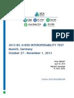 UCA 2013 IEC61850  IOP Report 18042014