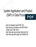 System Application and Product (SAP)