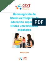 Homologacion Titulos Universitarios