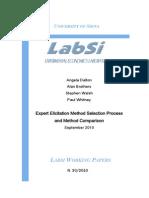Expert Elicitation Method Selection Process