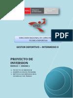 Proyecto de Inversion - Módulo i - Semana 1