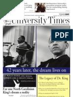 The University Times - January 14, 2010