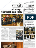 The University Times - September 22, 2009