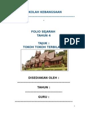 Folio Sejarah Tahun 4 2014
