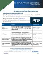 2014 Web Based Service Repair Training