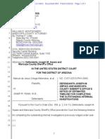 Melendres # 864 | D.ariz._2-07-Cv-02513_864_Arpaio Notice Re Completing Investigations