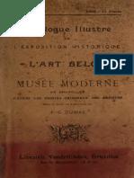 DUMAS, F. G. Catalogue Illustré de l'Exposition Historique de l'Art Belge Et Du Musée Moderne de Bruxelles, d'Après Les Dessins Originaux Des Artistes (1880)
