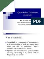 Manit Choudhary Quantitative Techniques Notes