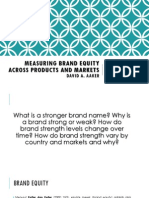 Measuring Brand Equity Across Products and Markets