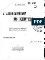 A Auto-hemoterapia Nas Dermatoses