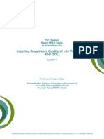 Rapid PEER study to strengthen the injecting drug users' quality of life programme