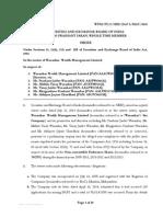 Final Order-Wasankar Wealth Management Limited
