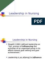 Leadership in Nursing Nursing Administration Ppt