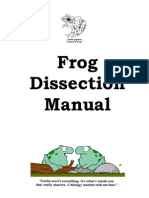 frog dissection manual 2013