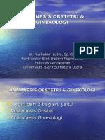 1. Anamnesis Obstetri & Ginekologi