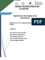 Auditoría en TI en La Bibloteca Anastacio Lopez Santiago_Integradora Doc Formal (Hay Que Corregir El Corregido)