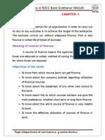 a study on RDCC bank
