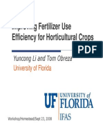 Improving Fertilizer Use Efficiency for Horticultural Crops