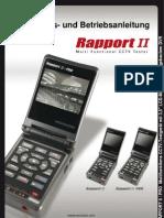 Rapport II / Pro - Installations- und Bedienungsanleitung / German