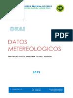 Datos Metereologicos Pasco