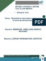Mendoza_arellano_S3_T3Estadística Descriptiva Aplicada a La Toma de Decisiones