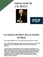 La Música Vocal de Bach