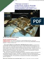 Build a 1000 Mhz Rf Spectrum Analyzer Inexpensively