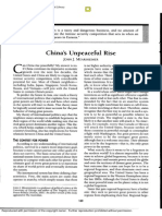 China's Unpeaceful Rise - J. Mearsheimer