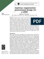 Ubiquitous Organization - Organizational Design for E-CRM
