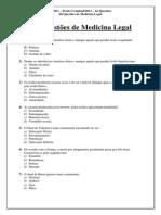 Medicina Legal - 60 Questões