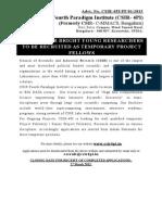 Advt.project Fellows CSIR-4PI Feb2015