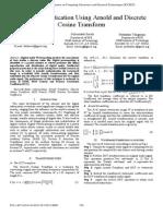 7Audio Authentication Using Arnold and Discrete Cosine Transform