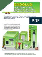 Lanterna LED e Luminaria Sensor - 13-12-2011