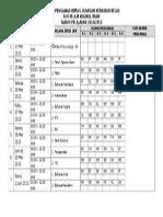 Daftar Pengawas Ruang Ulangan Kenaikan Kelas SMP Islam Khairul Imam