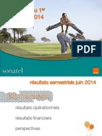 Resultats Consolides de Sonatel Du 1er Semestre 2014