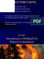 Introduction to Wildland Fire Behavior Calculations390RM